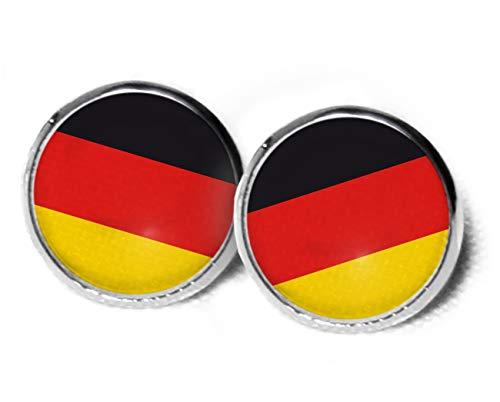 Deutschland Ohrstecker- Ohrringe Deutschland Flagge - 12mm - Süße Ohrringe - Flagge - Fussball Outfit - Fussball Party - Flaggen Ohrringe - Fussball Geschenk - Ohrstecker Weihnachten SCS175