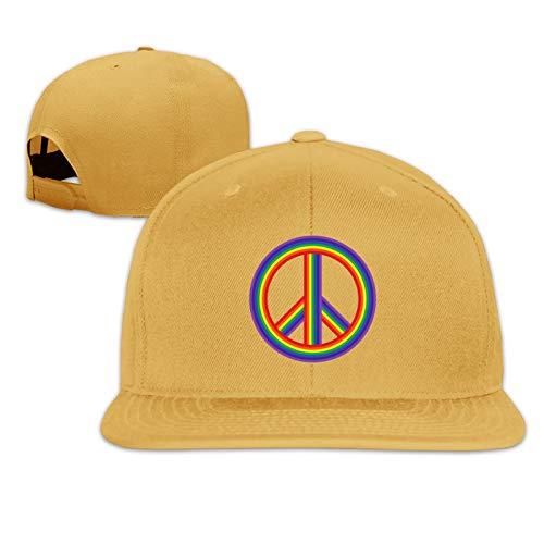 Peace Rainbow Sign Unisex Herrenmütze Sportkappe Hip-Hop-Kappe Verstellbare Flache Herren-Baseballmütze Sonnenmütze für Erwachsene