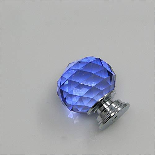 InChengGouFouX deurgrepen van helder kristalglas transparant K9 kristal ronde glazen bol-knop-keuken-kastje ladekast handvat schroeven in 5 kleuren verkrijgbaar 10 voor het interieur