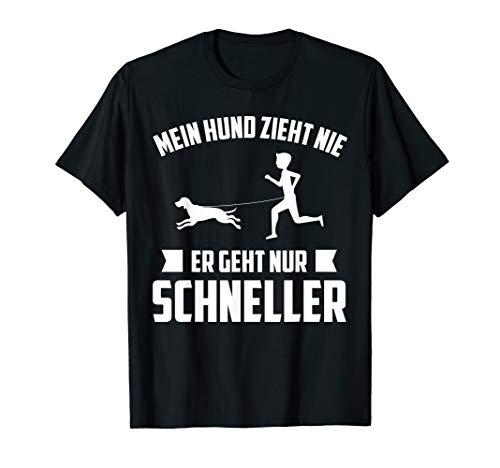 Mein Hund zieht nie Mantrailing Rettungshund Geschenk T-Shirt