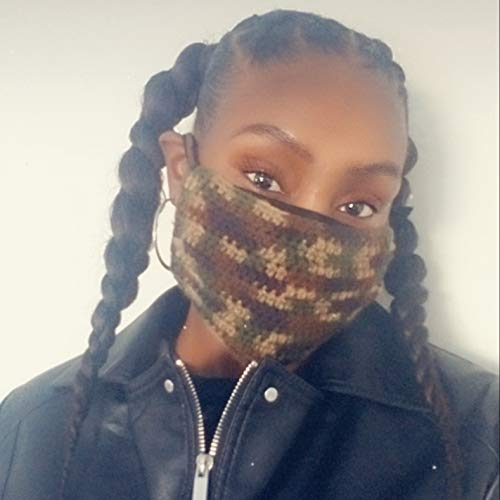 Army Fatigue Crochet Mask Face Cover Max 84% OFF Max 86% OFF