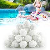 Mture Bolas de filtro para instalaciones de filtro de arena, 700 g, puede reemplazar 25 kg de arena de filtro, bolas de filtro para bomba de piscina, bomba de filtro, filtro de arena de acuario.