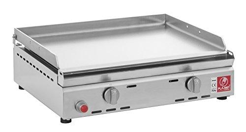 Plancha Chef 55 liscia in acciaio inox