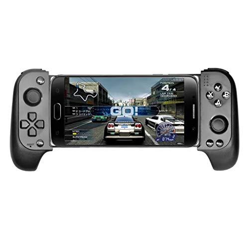 WXLSQ Juego De Bluetooth Wireless Controller Gamepad Telescópica Palanca De Mando del Juego Móvil, Extensible Joystick para Android/iOS,A