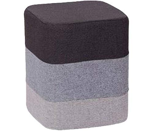 Keraiz Repose-Pieds carré au Design rétro coloré, Coton, Gris, 12,99 x 10,63 x 10,63 cm