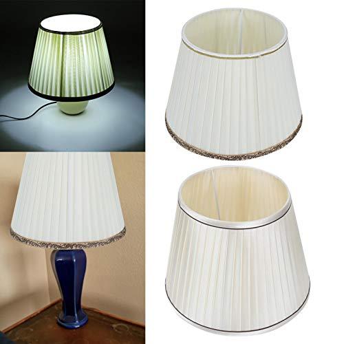Jacksing Kit de Pantalla, Pantalla para lámpara, Pantalla para lámpara de pie para Dormitorio, Sala de Estar