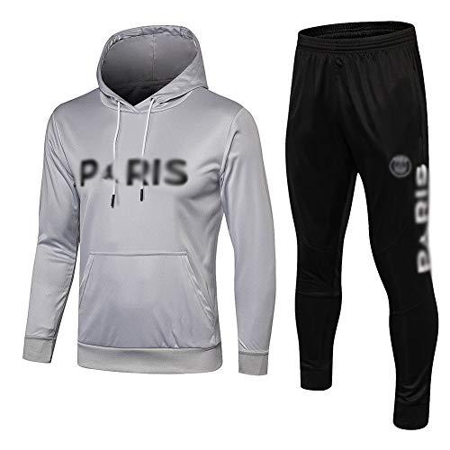 ZHWEI Nueva temporada Competición club de fútbol uniforme, de manga larga Traje-entrenamiento de fútbol, los mejores regalos for los hombres Q493 Respirable (Color : Gray, Size : L)