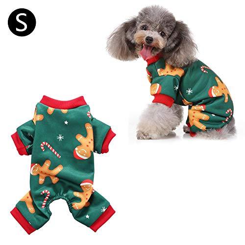 Dynamicoz Ropa Perrito Fiesta de Navidad del Mono Pijamas Camiseta de Perro Ambiente decoración Respectable