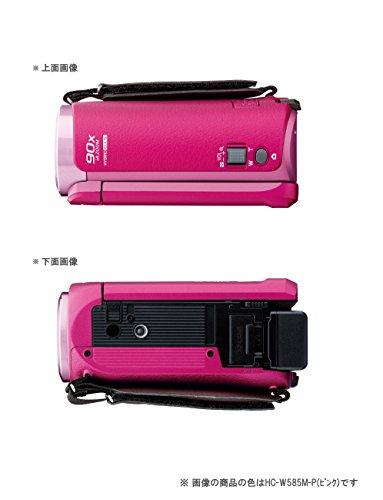 『パナソニック HDビデオカメラ W585M 64GB ワイプ撮り 高倍率90倍ズーム ホワイト HC-W585M-W』の4枚目の画像