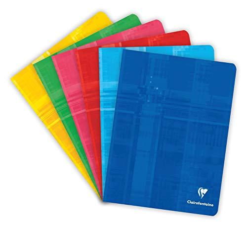 Clairefontaine 63741C Schulhefte Seyes 17x22 96 Seiten, 10 Stücke ( Farbe sortiert)