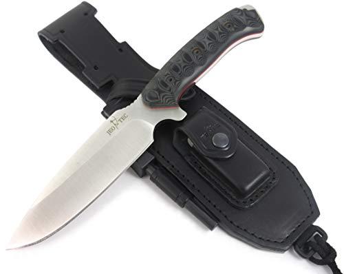 JEO-TEC Nº15: Outdoor/Survie/Couteau de Chasse - Lame INOX Bohler N690C - Étui de Transport - Fabriqué en Espagne