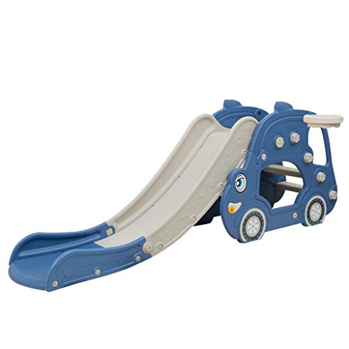 YuanYang hotpot Toddler Climber Slide Toys Playset for 3-8 Years Old Boys Girls, Easy Climbing Stairs Sliding and Basketball Hoop for Kids,Multifunctional Toys for Backyard and Indoor Outdoor (Blue)
