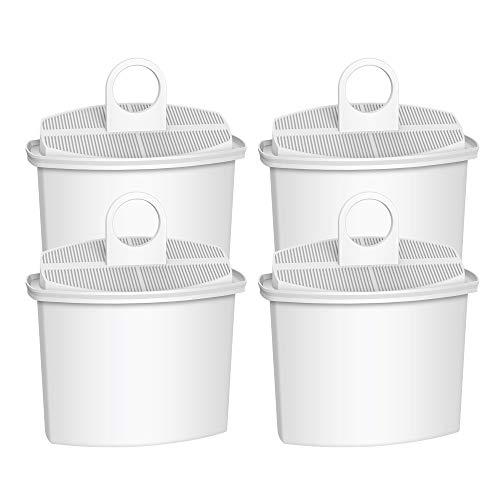Waterdrop 4 Pack TÜV SÜD Zertifizierte Ersatzfilterpartrone für Braun Brita PureAqua KWF2, Braun BRSC006, Braun AromaSelect, AromaPassion, Impression Kaffeemaschinen