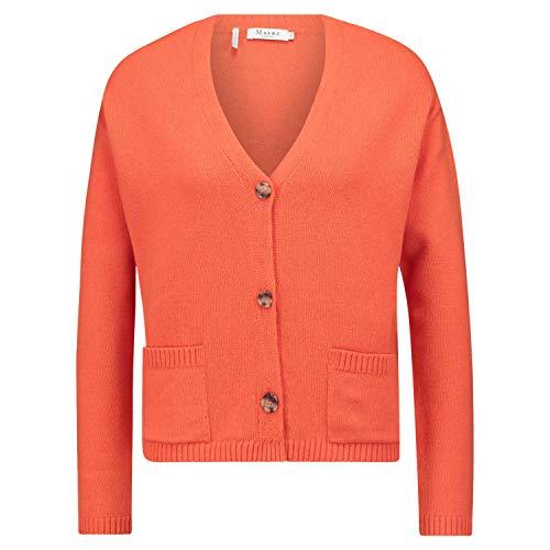 Maerz Strickjacke aus Schurwolle orange (687 Papaya Blossom) 38