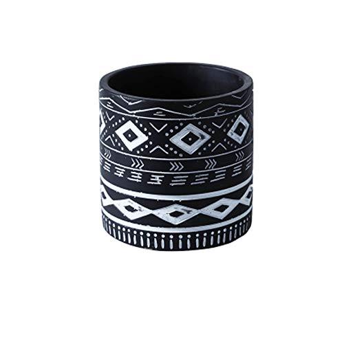 Maceta de cerámica Potes de flor de cemento Moderno Decorativo Pote de jardinería con agujero de drenaje para todas las plantas de la casa Hierbas y semillas de vivienda suculenta contenedor para plan