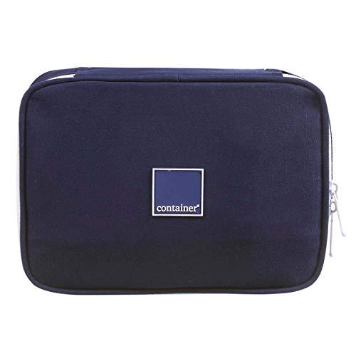 Estojo Soft Luxo Container Colors Luxo Dark Blue Dermiwil, Azul Marinho