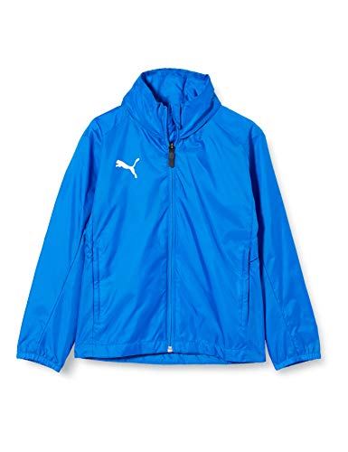 Puma Kinder Liga Training Core Regenjacke, Electric Blue Lemonade White, 164