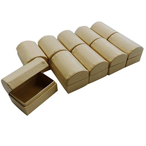 efco Schatztruhe Pappe/Karton zum Basteln und Selbstgestalten, 6x4x4cm (10)