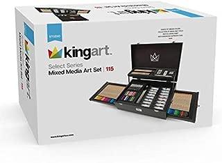 KINGART 131 Select Series Mixed Media, Set of 115 Art Set, Assorted