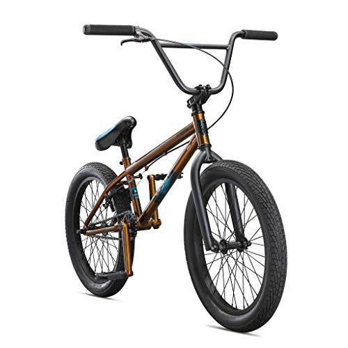 Mongoose Legion L40 Freestyle BMX Bike for Beginner-Level to Advanced Riders, Steel Frame, 20-Inch Wheels, Copper