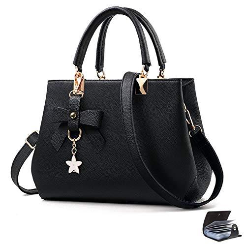 URAQT Elegant Handtasche Damen Umhängetasche, Damenhandtaschen Frauen Stilvolle PU Schultertasche, Shopper Taschen Umhängetasche mit Mehrere Taschen Fächer Geschenke für Damen