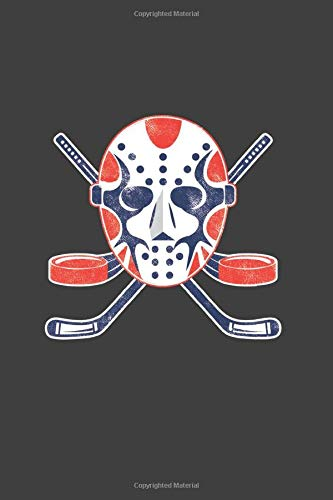 Hockey Mask: Cool Animated Design For Ice Hockey Player athlete Lover Any Occasion Notebook Composition Book Novelty Gift (6