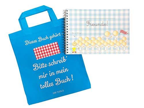 Cherry Picking Freundebuch Kindergarten Kindergartenfreunde Poesiealbum mit Tasche TÜRKIS