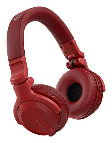 Pioneer DJ DJ Headphones, Red (HDJ-CUE1BT-R)