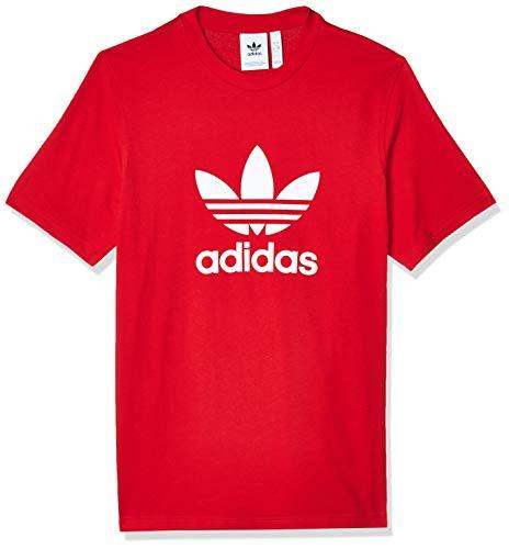 adidas Trefoil T-Shirt T-Shirts, Hombre, Scarlet/White, M