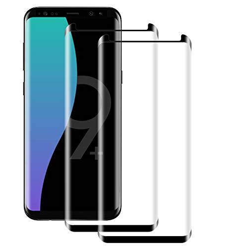 NUOCHENG [2 Stück Panzerglas Schutzfolie für Samsung Galaxy S9 Plus, 9H Härte Panzerglas Folie,[HD Clear] [Blasenfrei] [Anti-Kratzer] [Anti-Fingerabdruck] Displayschutzfolie für Samsung S9 Plus