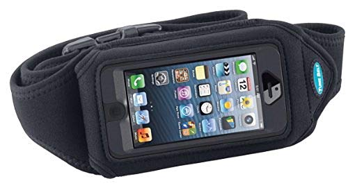 Running Belt for iPhone 5, 5s, 5c, SE with OtterBox Defender; Also fits Galaxy S3/S4 & iPhone 4/4S with case - Great for Jogging, Walking & Sports - for Men & Women [Black]