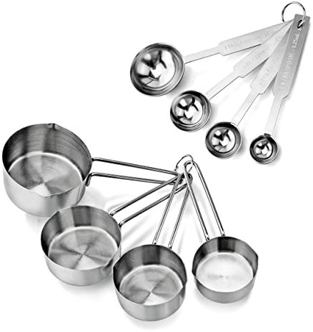 Best New Star Foodservice 42917 Stainless Steel Measuring Spoons and Measuring Cups Combo, Set of 8
