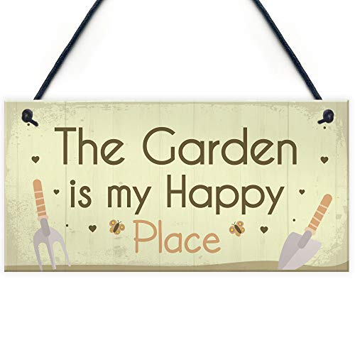 RED OCEAN Novelty Garden Sign Hanging Wall Plaque Gift For Gardeners Mum Nan Home Decor Garden Shed Plaque