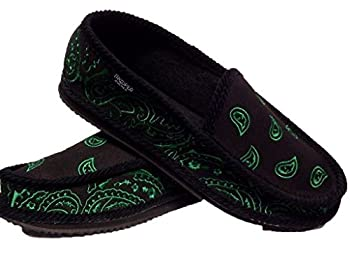 Black and Green Bandana House Shoes Slippers Trooper New Size 8 9 10 11 12 13  10
