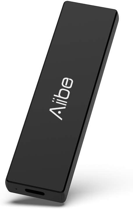 Aiibe Portable SSD 500GB USB 3.1 Gen 2 Mini External SSD Hard Drive 500GB USB-C Solid State Flash Drive Speeds Up to 900MB/s, Black
