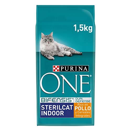 PURINA ONE Bifensis Pienso para Gatos Esterilizados Pollo y Trigo 6 x 1,5 Kg