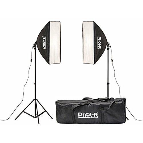 Phot-R 1500W Dual-Studio-Beleuchtung Kit