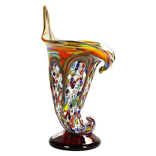 Calla Punk Style - Vase - Verre de Murano Millefiori