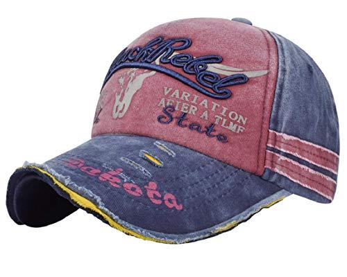 heekpek Unisex Adulto Gorras de Hombre Beisbol Gorra de Béisbol Informal Bordado Casuales Sombreros (Vino Tinto)