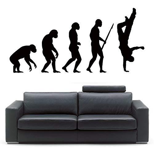 Neu Kommen Darwin Evolution HIP HOP Wandaufkleber Kunst Evolution Street Dance Aufkleber Wohnkultur Wandbild 35 * 75 CM