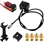 CR-10S 3D Printers Original Replacement Parts/Accessories Full Assemble MK8 Extruder Hot End Kits (with Nozzle 0.4mm /0.2mm /0.3mm /0.5mm) fit for Creality 3D Printing Printer CR-10 CR-10S S4 S5
