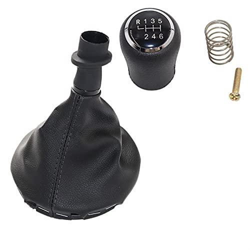 LCBIAO Knob de cambio de engranajes de coche 5/6 velocidades de vela de engranajes Gaitero Cubierta de arranque Ajuste para VW TRANSPORTR T5 T5.1 T6 2003 2005-2015 ( Color Name : 6 speed black set )