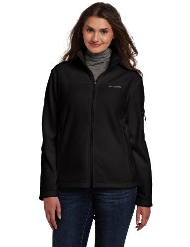 Columbia Women's Plus-Size Fast Trek II Full Zip Fleece Jacket Plus, Black, 1X