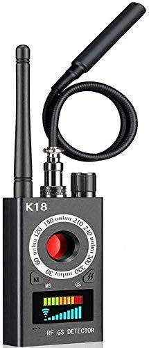 RF Detector & Camera Finder Anti Spy Hidden Camera Detectors Bug Sweeper GPS Audio Spy Scanner Radio Wireless Signal Electronic Tracker US Plug (Black)