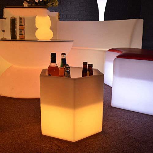 YXZN Led Beleuchtete Eiskübel Mit Fernbedienung, wasserdichte Weinkühler Mit 16 Led Farben Ändern Champagner Getränke Bier Eimer