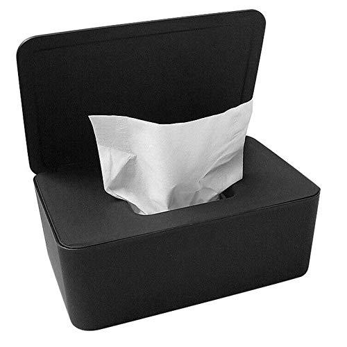 iSunday - Dispensador de toallitas húmedas para pañuelos, Caja de Almacenamiento con Tapa para Oficina en casa