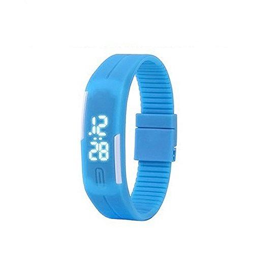 腕時計 デジタル表示 多機能 スポーツウォッチ ランニングウォッチ 防水 子供用 LEDライト付き 誕生日プレゼント 入学祝い 子供腕時計 キッズ腕時計 (コバルト)