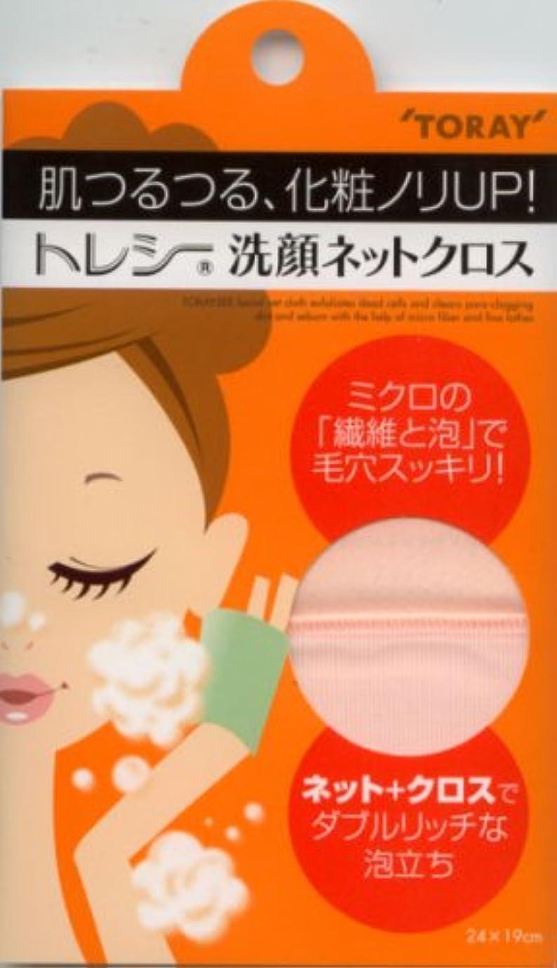 変色するにおい導入するトレシー 洗顔ネットクロス ピンク
