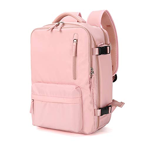 Laptop Backpack for Men and Women Fits 15.6 Inch Water Resistant Independent Shoe Bag with USB Charging port Dry and Wet Separation Bag Insulation Bag Business Backpack,Pink,15.6 inch