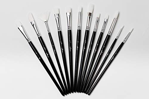 Paint Brushes from imPicasso™   12 X Set Suitable for Beginners and Professionals Can Be Used for...